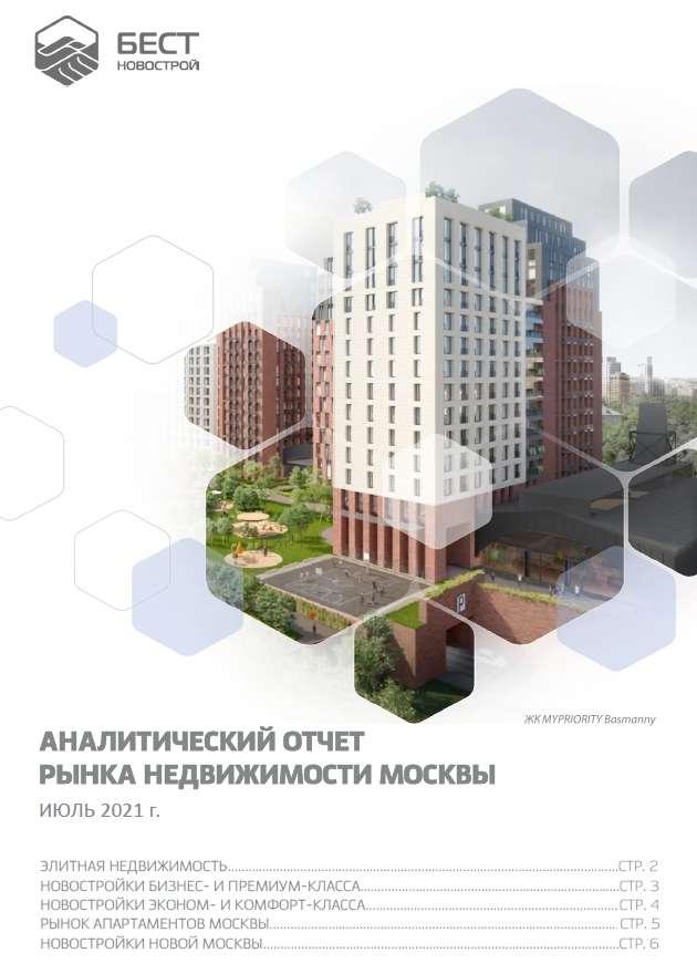 Аналитический отчет рынка недвижимости Москвы. Июль 2021