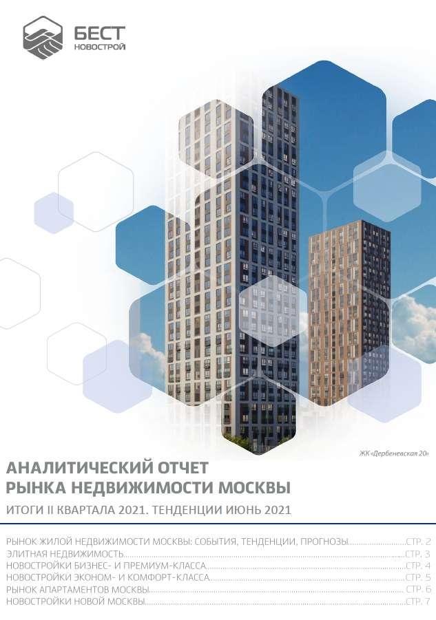 Аналитический отчет рынка недвижимости Москвы. Итоги II квартала 2021. Тенденции июнь 2021